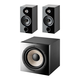 Focal Chora 806 Bookshelf Speakers with Sub 1000 F High Power Subwoofer (Black)