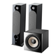 Focal Chora 826 Floor Standing Speakers with Sub 1000 F High Power Subwoofer (Black)
