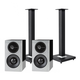 Definitive Technology Demand Series D11 High-Performance Bookshelf Speakers with Speaker Stands - Pair