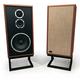KLH Model Five 3-way 10-inch Acoustic Suspension Floorstanding Speakers - Pair (Mahogany)
