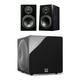 SVS Prime Bookshelf 2.1 Speaker Package with 3000 Micro Subwoofer (Premium Black Ash/Piano Black)