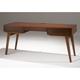 Furnitech Tango 66 Mid-Century Modern Writing Desk (Warm Cognac)