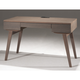 Furnitech Tango 48 Mid-Century Modern Writing Desk (Coastal Grey)