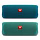 JBL Flip 5 ECO Portable Waterproof Bluetooth Speaker - Pair (Ocean Blue/Forest Green)