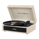 Victrola Parker Bluetooth Suitcase Record Player with 3-speed Turntable (Light Beige)