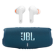 JBL Charge 5 Portable Waterproof Bluetooth Speaker (Blue) with Live Pro+ TWS In-Ear Noise-Cancelling Bluetooth Headphones (White)