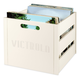 Victrola Wooden Record and Vinyl Crate (White)