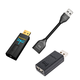 AudioQuest DragonFly Black v1.5 USB DAC and JitterBug USB Data and Power Noise Filter Package with DragonTail USB 2.0 Ex