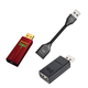 AudioQuest DragonFly Red v1.0 USB DAC with JitterBug USB Data and Power Noise Filter Package with DragonTail USB 2.0 Extender