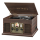 Victrola 6-in-1 Nostalgic Bluetooth Record Player with 3-speed Turntable (Espresso)