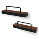 Victrola The Shelves Wall-Mounted Shelves for Vinyl Records - Pair