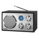 Victrola Houston Wooden Desktop Bluetooth Radio (Black)