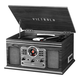 Victrola 6-in-1 Nostalgic Bluetooth Record Player with 3-speed Turntable (Gray)