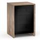 Salamander Chameleon Collection Barcelona 317 Single-Width Audio Cabinet (Natural Walnut with Black Glass Doors)