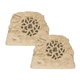 SpeakerCraft Ruckus 8 Series Rock Landscape Speaker - Pair (Sandstone)