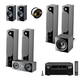 Focal Chora 7.2.4 Channel Dolby Atmos Home Theater System with Denon AVR-X8500HA 3.2ch 8K AV Receiver World Wide Stereo 14-Gauge, 2-Conductor Speaker Wire -