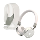 Cleer Audio BT Quality Bluetooth Wireless On-Ear Headphones with Heads Up Base Stand (White)
