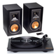 Klipsch R-15PM Powered Monitor Speakers and Pro-Ject Primary Turntable Package (Black)