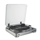 AudioTechnica AT-LP60-USB Fully Automatic Belt-Drive USB & Analog Stereo Turntable (Silver)
