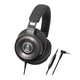 AudioTechnica ATH-WS1100iS   Solid Bass Over-Ear Headphones with In-line Mic & Control (Black)