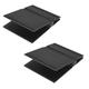 SoundXtra Universal Desktop Speaker Stand - Large, Pair (Black)