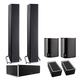 Definitive Technology BP9040 5.0 High Power Bipolar Tower Speaker Package with Integrated Subwoofers and Dolby Atmos Mod