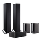 Definitive Technology BP9020 5.0 High Power Bipolar Tower Speaker Package with Integrated Subwoofers (Black)