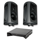 Definitive Technology AW 5500 All Weather Speakers with W Adapt Wireless Streaming Adapter (Black)