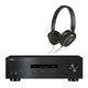 Yamaha R-S202 Bluetooth Stereo Receiver with Klipsch Reference R6 On-Ear Headphones (Black)