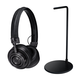 Master & Dynamic MH30 Foldable On-Ear Headphones with Headphone Stand (Black)