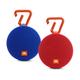 JBL Clip 2 Waterproof Portable Bluetooth Speaker Pair (Blue/Red)