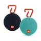JBL Clip 2 Waterproof Portable Bluetooth Speaker Pair (Black/Teal)