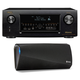 Denon AVR-X4300H 9.2 Channel Full 4K Ultra HD AV Receiver with HEOS 3 Dual-Driver Wireless Speaker System - Series 2 (Bl