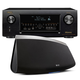 Denon AVR-X4300H 9.2 Channel Full 4K Ultra HD AV Receiver with HEOS 7 Five-Driver Wireless Speaker System - Series 2 (Bl