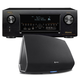Denon AVR-X4300H 9.2 Channel Full 4K Ultra HD AV Receiver with HEOS 5 Four-Driver Wireless Speaker System - Series 2 (Bl