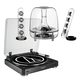 AudioTechnica AT-LP60 Fully Automatic Stereo 2-Speed Turntable System (Black) with Harman Consumer SoundSticks III 2.1 Plug Play Multimedia Speaker