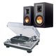 AudioTechnica AT-LP120-USB Direct-Drive Professional USB & Analog Turntable (Silver) with Klipsch R-15PM Reference Power