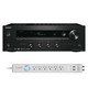 Onkyo TX-8160 Network Stereo Receiver and 6-Outlet Floor Power Strip with USB Charging
