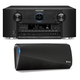Marantz AV7703 11.2 Channel Full 4K Ultra HD A/V Pre-Amplifier with Bluetooth and Wi-Fi with Denon HEOS 3 Dual-Driver Wi