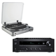 Onkyo TX-8140 Network Stereo Receiver with Built-In Wi-Fi  Bluetooth and Audio-Technica AT-LP60 Fully Automatic Turntable System Two Speeds (Silver)