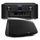 Marantz AV7703 11.2 Channel Full 4K Ultra HD A/V Pre-Amplifier with Bluetooth and Wi-Fi with Denon HEOS 7 Five-Driver Wi