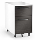 BDI Format 6307 Mobile File Pedestal (Charcoal with Satin White Finish)