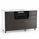 BDI Format 6320 Mobile Credenza (Charcoal with Satin White Finish)