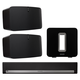 Sonos 5.1 Home Theater System with PLAY:5 (Pair), PLAYBAR, and SUB (Black)