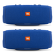 JBL Charge 3 Waterproof Portable Bluetooth Speaker - Pair (Blue)