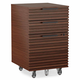 BDI CORRIDOR Mobile File Pedestal 6507 (Chocolate Stained Walnut)