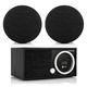 Tivoli Audio Model One Digital FM/Wi-Fi/Bluetooth Radio Wireless Hi-Fi Music System with SPHERA Speakers (Black) - Pair