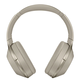 Sony MDR-1000X Wireless Noise-Cancelling Headphones with Built-In Mic (Beige)