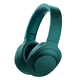 Sony MDR-100ABN/B h.ear on Wireless Noise-Cancelling Headphones with Built-In Microphone (Blue)