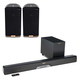 Klipsch RSB-8 Reference Sound Bar with Wireless Subwoofer RW-1 Speakers - Pair (Black)